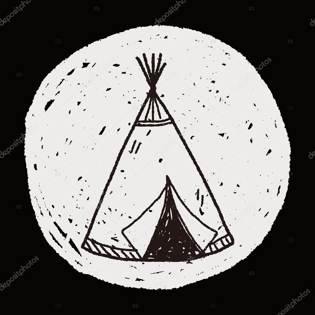 Indians tent doodle u2014 Stock Vector #75438989 & Indians tent doodle u2014 Stock Vector © hchjjl #75438989