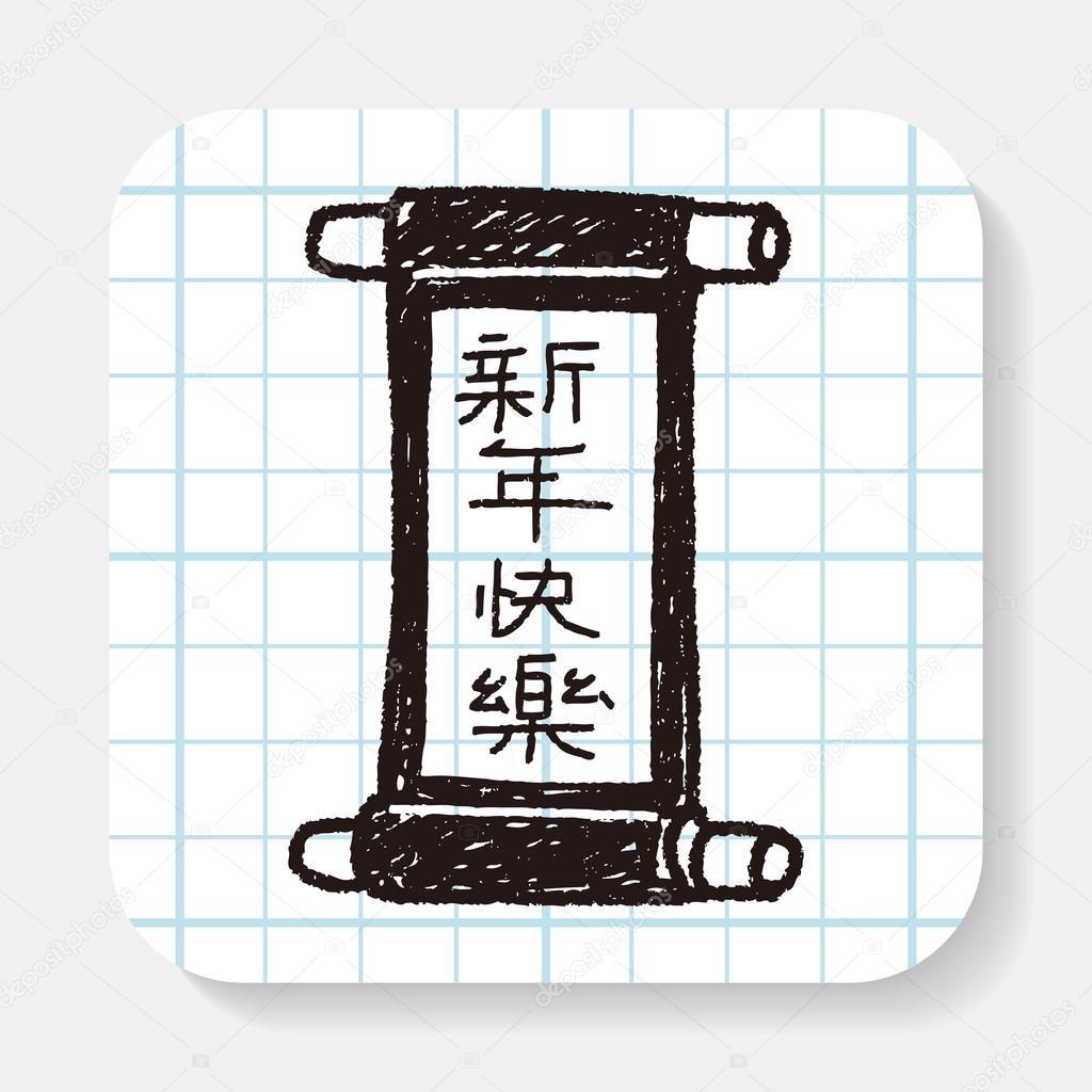 Chinesisches Neujahr; Chinesische Wörter Kalligraphie Schriftrollen ...