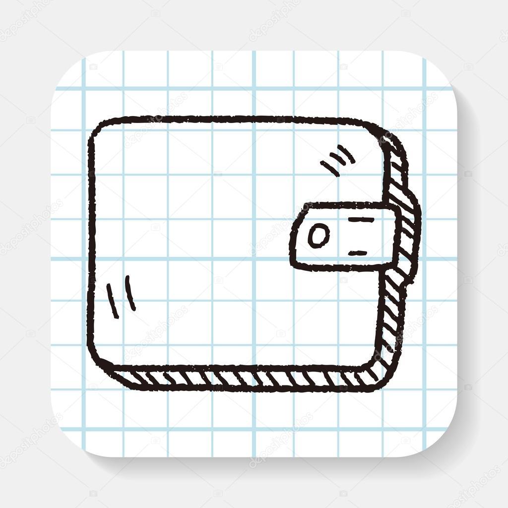 Dessin Porte Monnaie porte-monnaie doodle dessin — image vectorielle hchjjl © #82477138