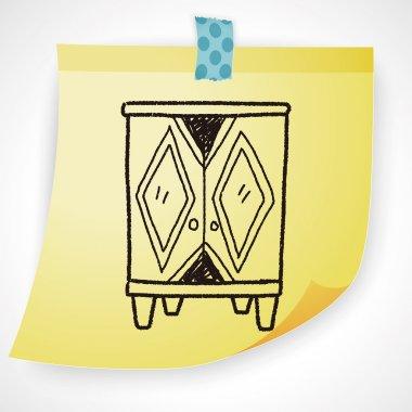 cabinet doodle icon element
