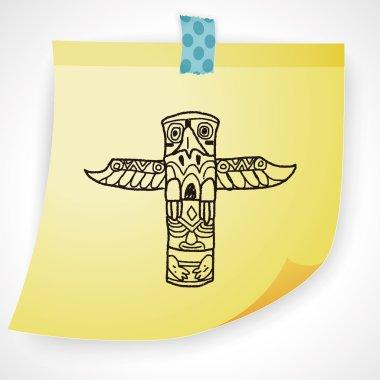 Totem Pole doodle icon element
