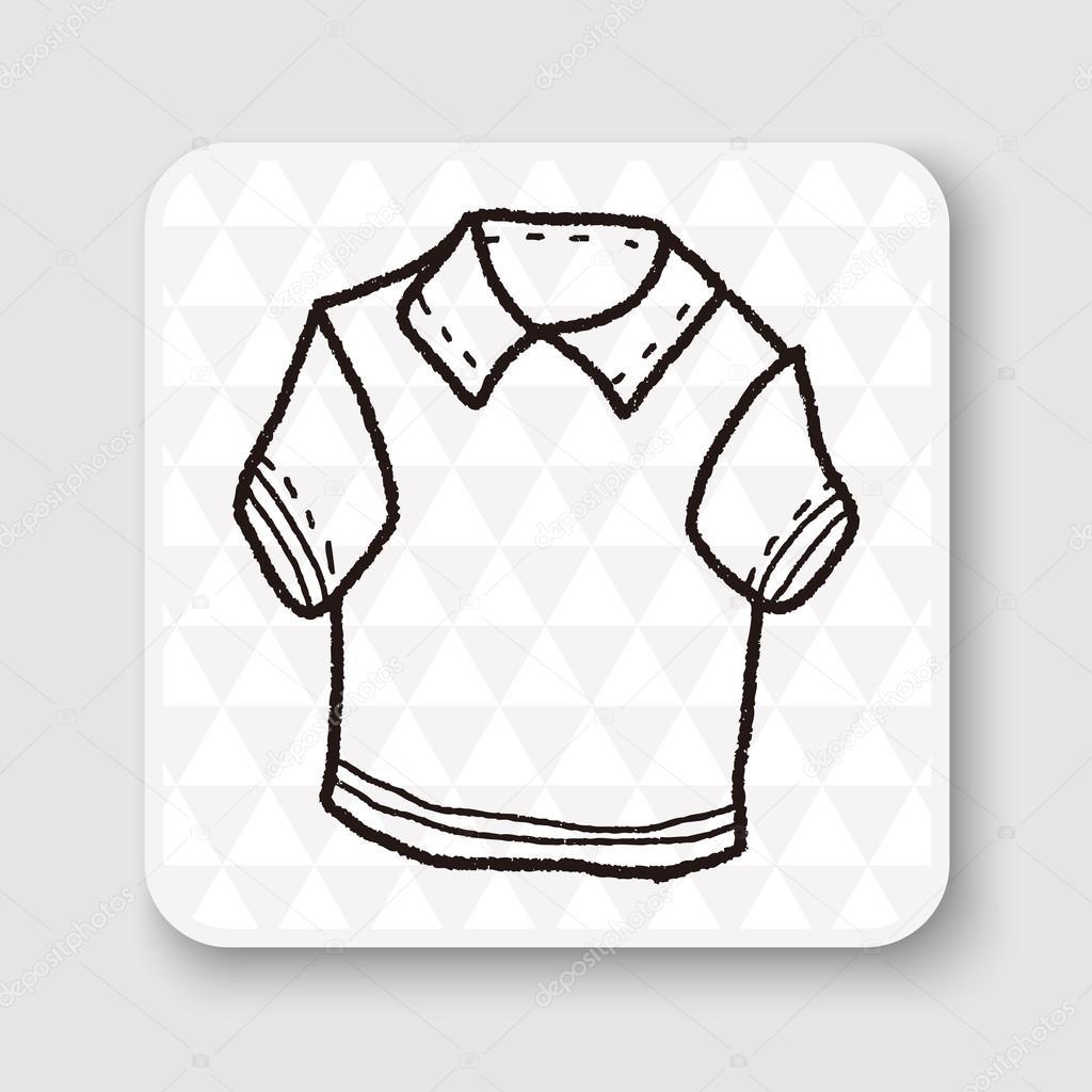 3b9b7ac2b344c camisa polo doodle ilustração em vetor — Vetores de Stock © hchjjl ...
