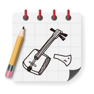 Banjo doodle vector illustration vector illustration
