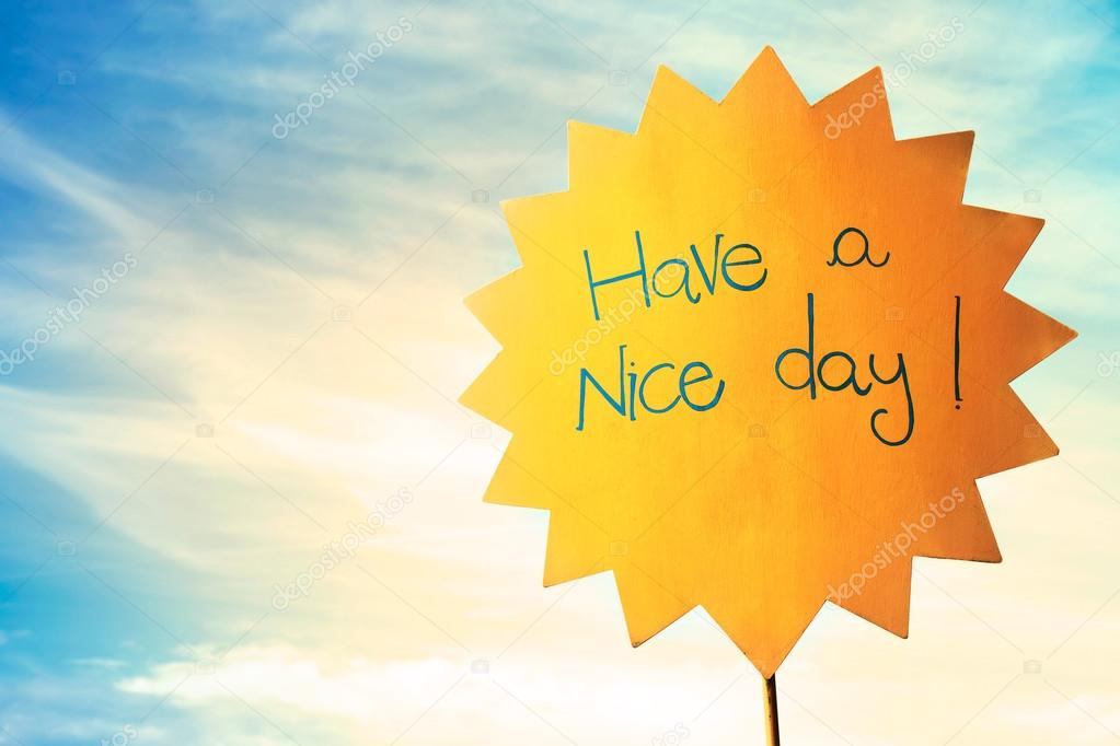 Greeting for a nice sunny day — Stock Photo © frankie_s #65049977
