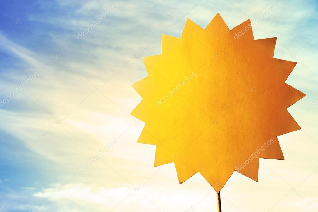 Sun shape message post it