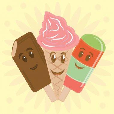 Ice cream cartoon character