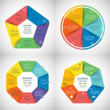 Vector infographics set.