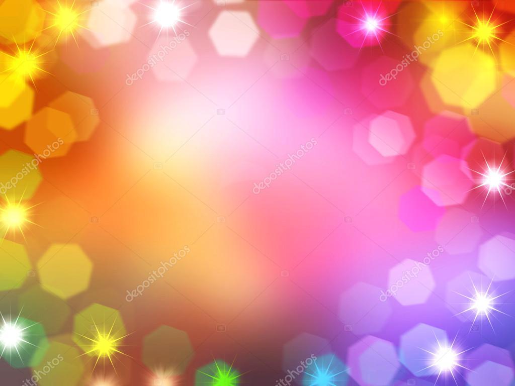 colorful christmas and new year lights bokeh holiday border and