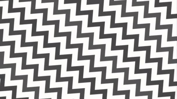 Motion intro geometrické černobílé cik cak, abstraktní pozadí