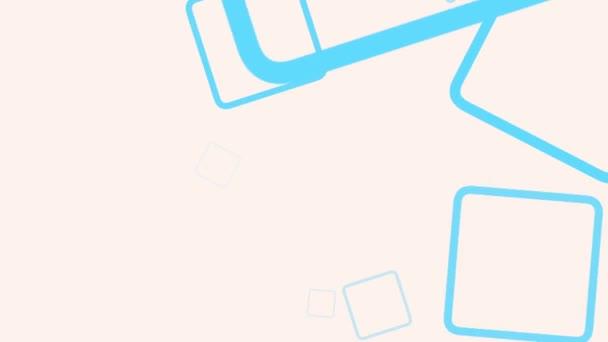 Motion intro geometrikus kék négyzetek, elvont háttér