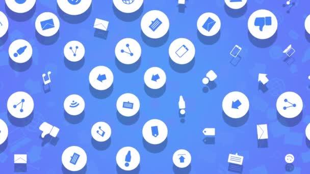 Bewegungs-Netzwerk-Symbole auf einfachem Hintergrund