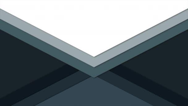 Motion intro kék-fehér geometrikus alak, elvont háttér