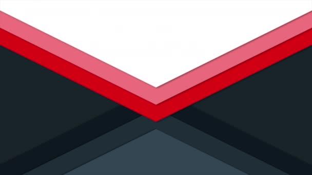 Mozgás intro geometrikus piros és fekete háromszögek, elvont háttér