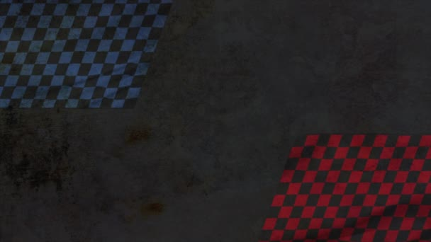 Motion formula red and blue flags, retro sport background