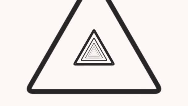 Motion intro geometrikus vertigo fekete háromszögek, elvont egyszerű háttér