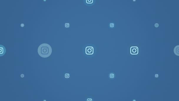 Bewegungs-Icons des sozialen Netzwerks Instagram auf einfachem Hintergrund