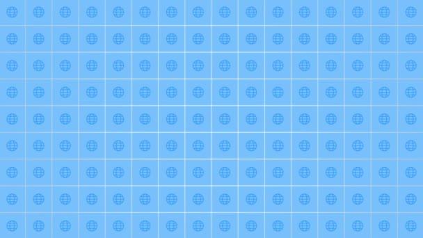Motion Globe ikon egyszerű hálózati háttér