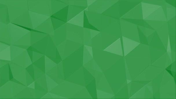 Mozgászöld alacsony poli, absztrakt geometriai háttér
