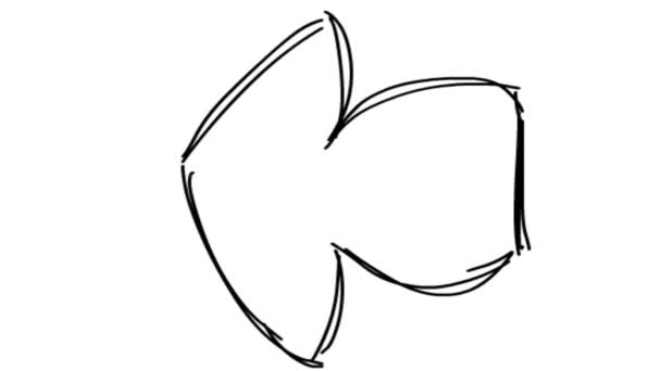 cartoon arrow sign. arrow symbol. doodle arrow. arrow animation.
