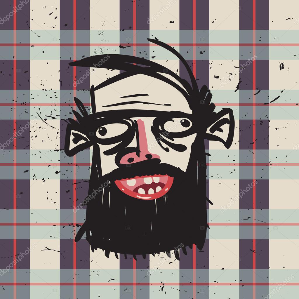 Днем, открытка бородатому мужчине