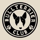 Bulteriér tvář. Bull terrier klubu odznak