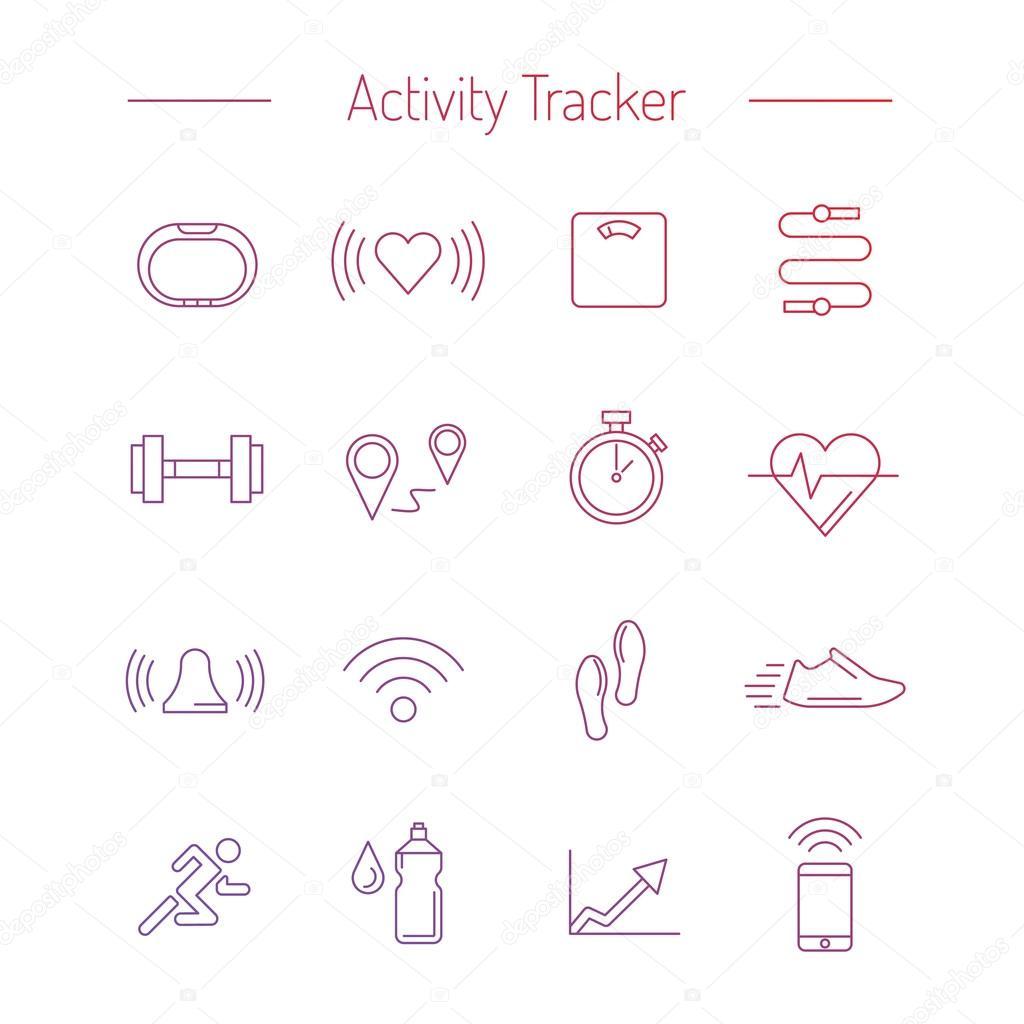 fitness activity tracker 01 — Vector de stock © shopplaywood #103139112