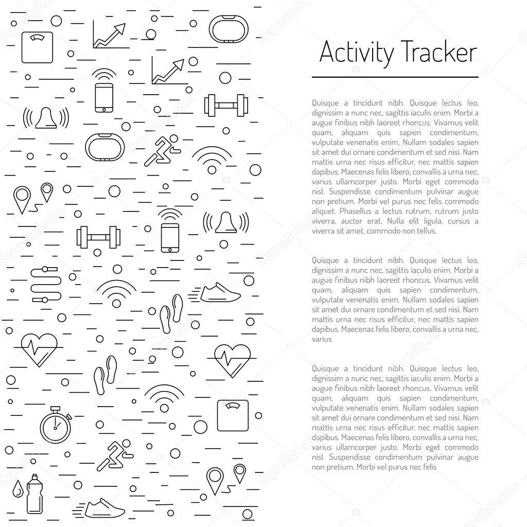 seguimiento de la actividad de fitness 19 — Vector de stock ...