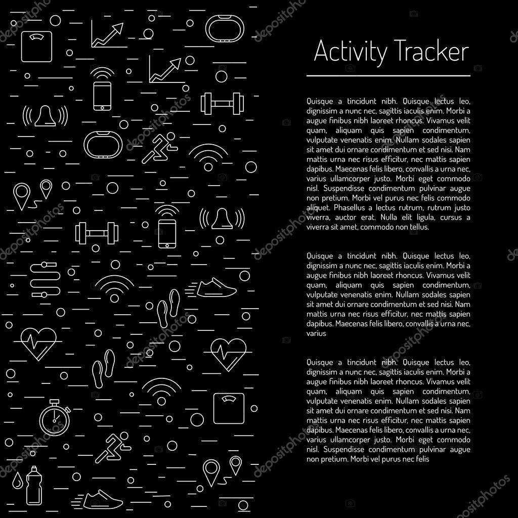seguimiento de la actividad de fitness 23 — Vector de stock ...