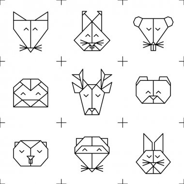 Pattern origami forest animals 1