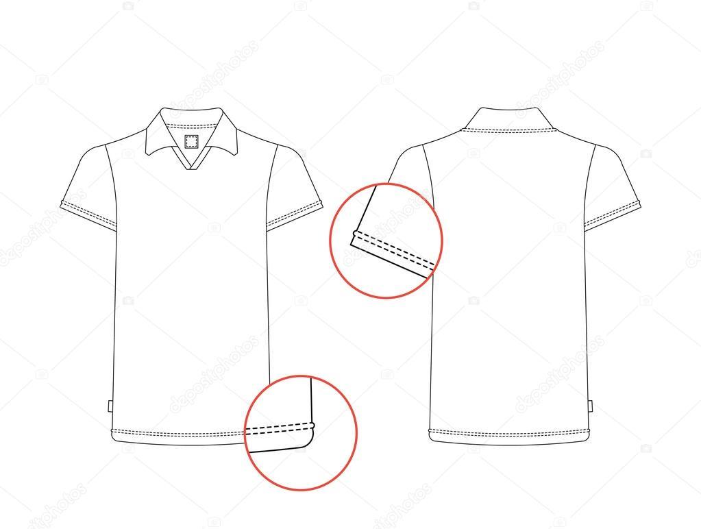 t-Shirt Vorlage einzelner — Stockvektor © shopplaywood #124806694