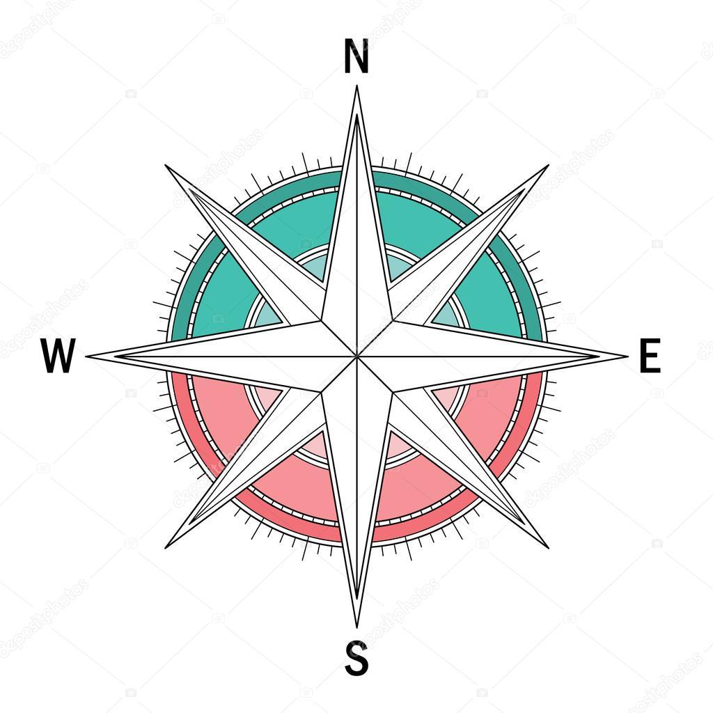 Imágenes La Rosa De Los Vientos Para Colorear Solo Compas