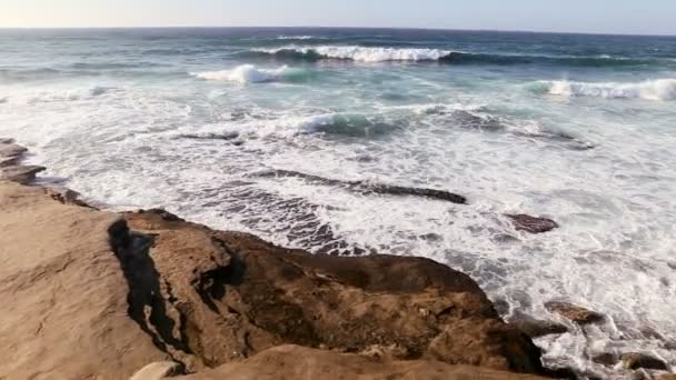 Pacific Ocean with Waves Crashing onto Coastline