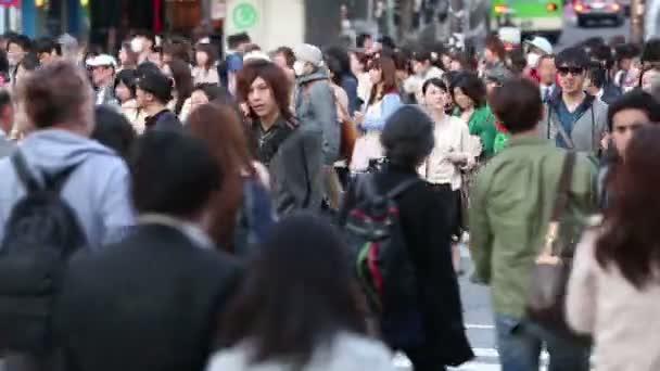 Tokyo, Japonsko - cca 2013: Velké davy chodců, dojíždějící a nakupující