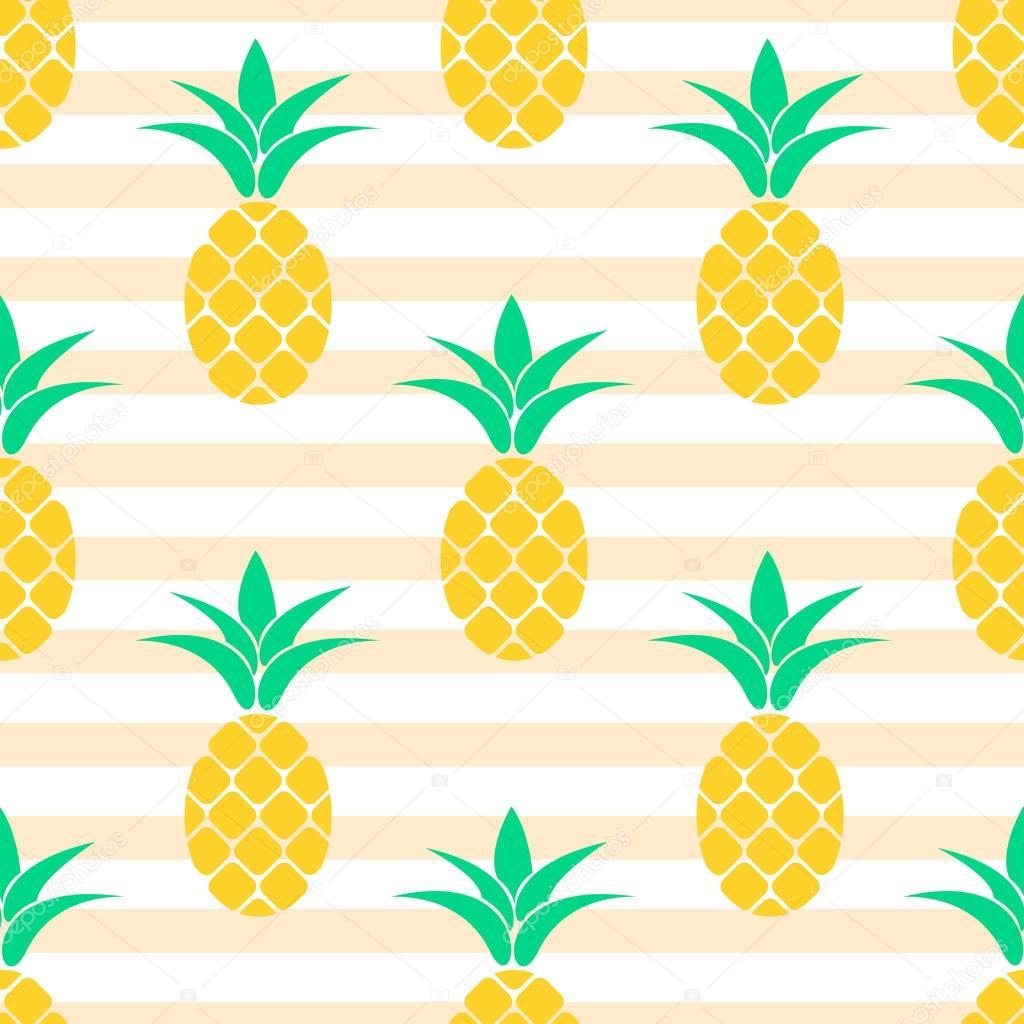 Diseño del patrón de la piña de verano. Fondo de colores pastel ...