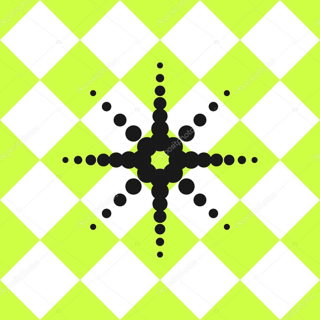Boden-keramische Fliesen Muster grün mit schwarzer Stern ...