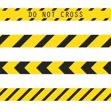 Do not cross the line caution tape.