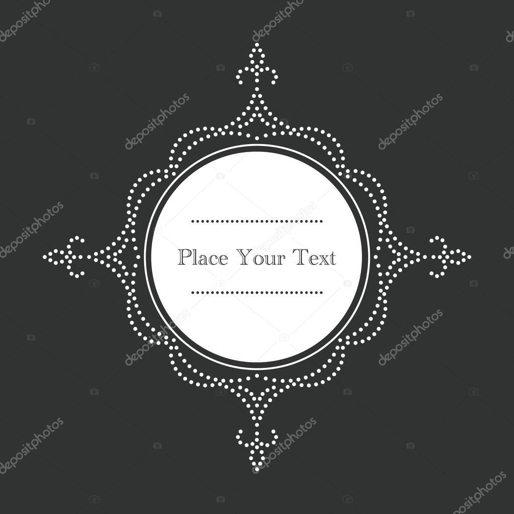 Marco de vector ornamental de estilo vintage con puntos blancos ...