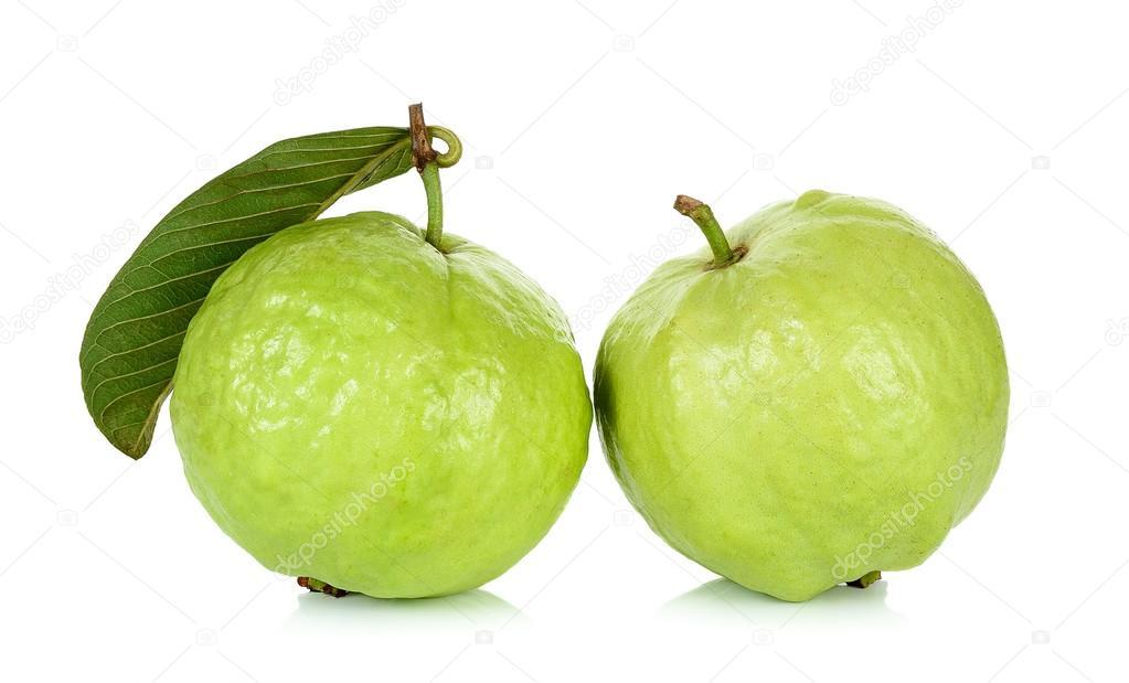 Guava fruit isolated on the white background — Stock Photo