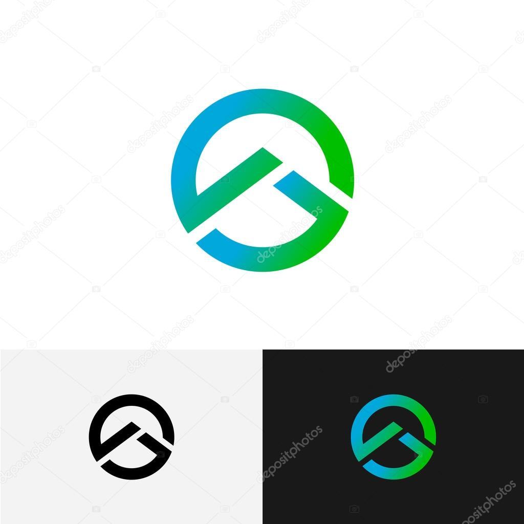 Round logo with mountain triangle profile inside geometric tech round logo with mountain triangle profile inside geometric tech stock vector buycottarizona Image collections
