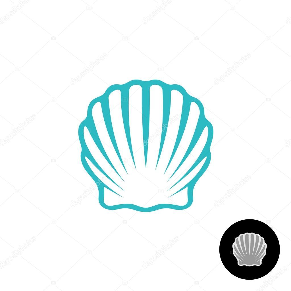 ホタテ貝殻エレガントなシンボル ストックベクター Kilroy 115423998