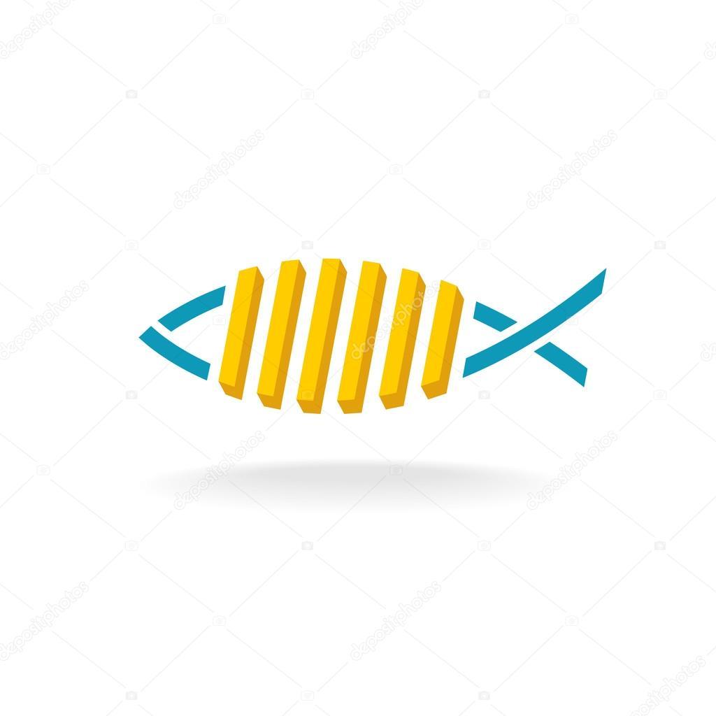Fish Fry Logo:  Fish And Chips Logo . Stock Vector Kilroy #115424148