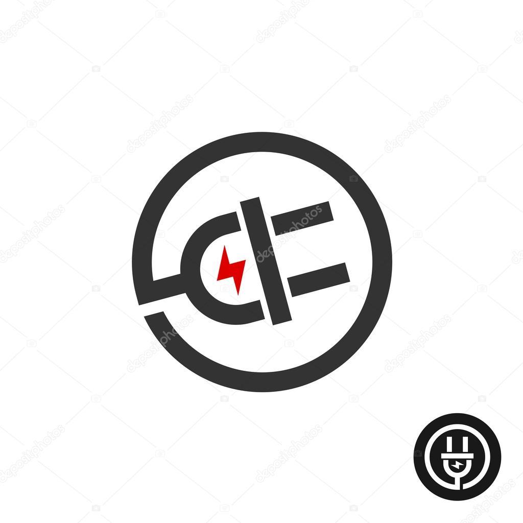 Elektrostecker in Draht-Symbol — Stockvektor © Kilroy #115424524