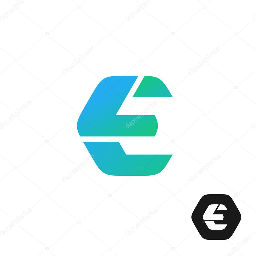 Letter E color tech industry style logo — Stock Vector © Kilroy ...