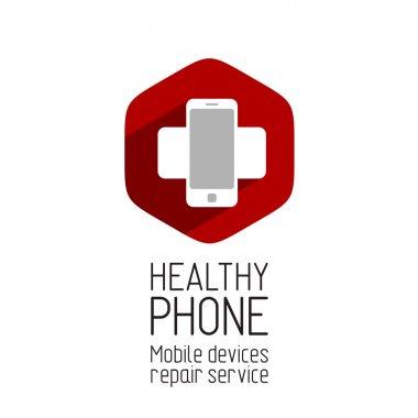 Phone repair service logo
