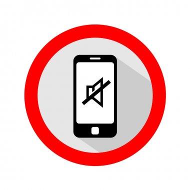 Mobile phone ringer mute sign