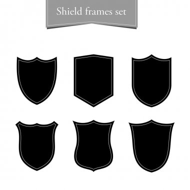 Shield logo backgrounds set