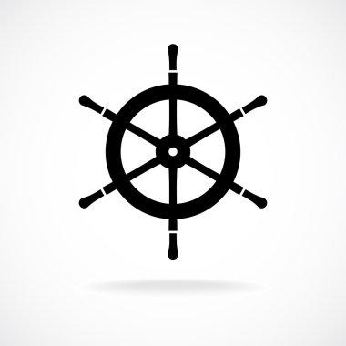 Yacht wheel symbol