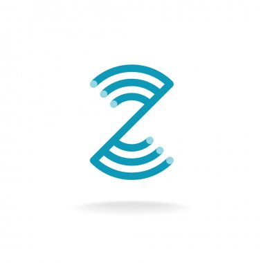Letter Z technical logo template