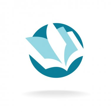 Open book pages logo
