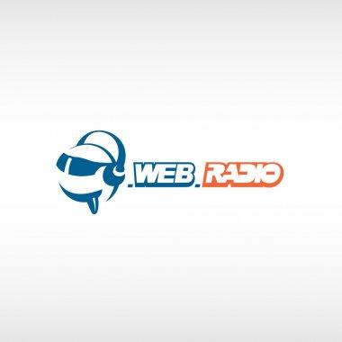Internet radio logo template